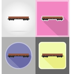 Railway transport flat icons 05 vector