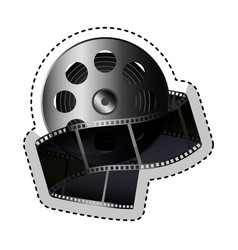reel tape record isolated icon vector image