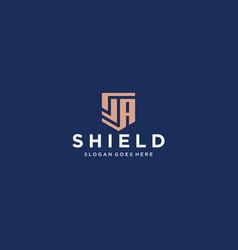 Sa shield logo vector