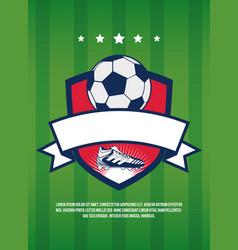 Soccer cup vintage banner vector