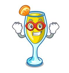 Super hero mimosa character cartoon style vector