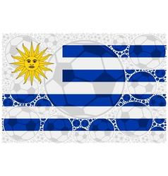 Uruguay soccer balls vector