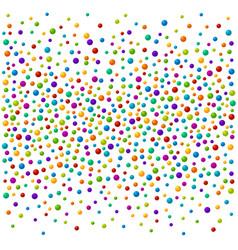 vibrant color soap bubles or confetti festive vector image