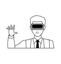 virtual reality icon image vector image