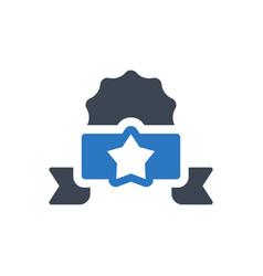 winner badge icon vector image