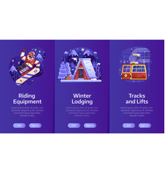 winter ski resort vertical banners vector image