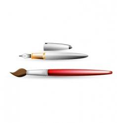 artist brush vector image