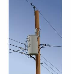 power pole vector image