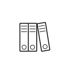 lever arch binders thin line icon paper folders vector image