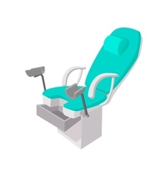 Medical gynecological chair cartoon icon vector image vector image