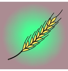 Wheat Pop art vector image