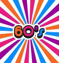 60s Party Background vector image