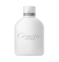 big bottle with cosmetics vector image vector image