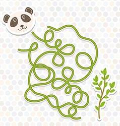 panda labyrinth game for Preschool Children vector image vector image