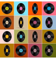 Retro Vintage Vinyl Record Disc Background vector image