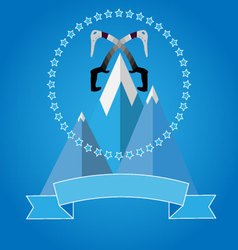 Logo icon badge for mountaineering club vector image