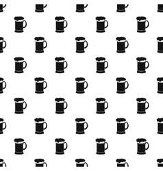 Mug of beer pattern simple style vector image