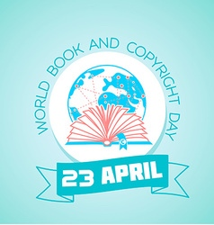 23 april world book and copyright day vector