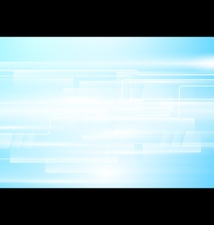 Abstract white geometric in soft blue background vector