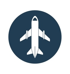 airplane emblem icon image vector image