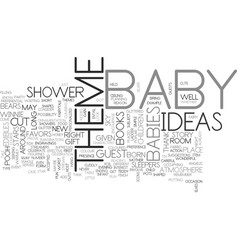 baby shower theme this is about babies right text vector image
