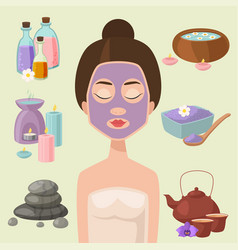 beautiful woman spa vector image