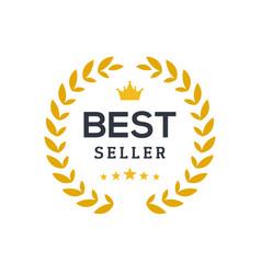 Best seller ceremony award laurel winner vector