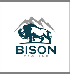 Bison logo templates vector