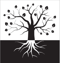 Black and white tree symbol vector