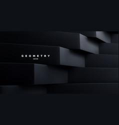 black architectural background minimal backdrop vector image