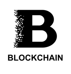 Black blockchain symbol vector