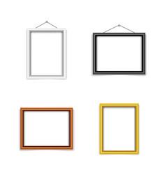 blank photo frame template set vector image