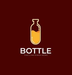 bottle template vector image