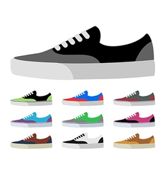 CANVAS SHOES vector image