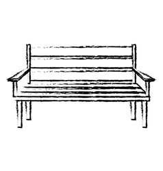 chair park isolated icon vector image