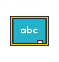 Chalkboard Outline Icon vector