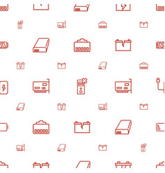 Charger icons pattern seamless white background vector