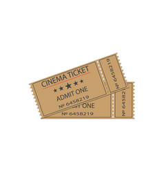 Cinema tickets with shadow vector