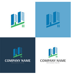 city logo and icon vector image