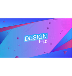 Colorful shape poster template art vector