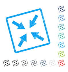 Compress arrows icon rubber watermark vector