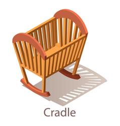 Cradle icon isometric style vector