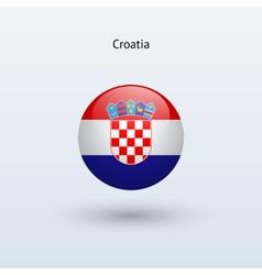 Croatia round flag vector