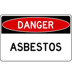 Danger asbestos sign vector