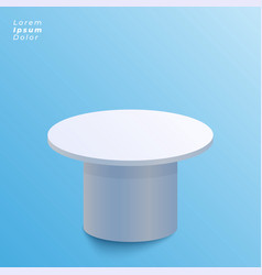 Display table design on blue background vector