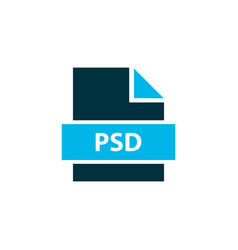 File psd icon colored symbol premium quality vector