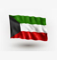 flag kuwait vector image