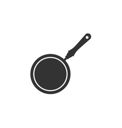 Frying pan icon isolated flat design vector