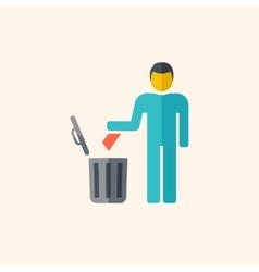 Garbage Disposal Flat Icon vector