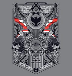 Garuda pancasila vector